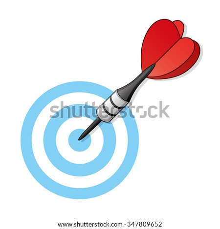Dart arrow and target.