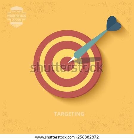 Dart design on yellow background,grunge vector - stock vector