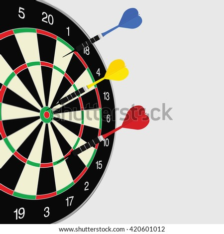 dartboard color game illustration - stock vector