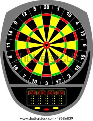 Dartboard electronic - stock vector