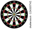 Dartboard Illustration Isolated on White Background Vector - stock vector
