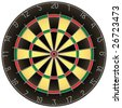 Dartboard vector illustration isolated on white background - stock vector
