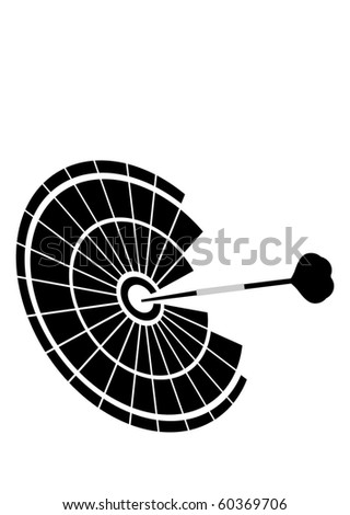 darts - stock vector