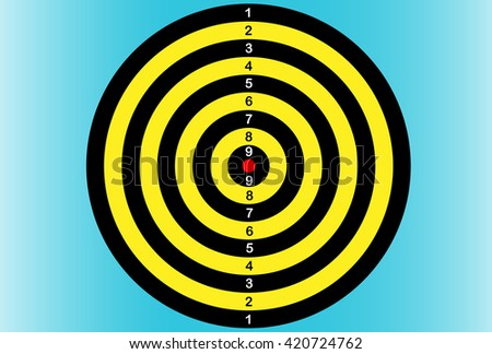 Darts. Dartboard. Vector illustration