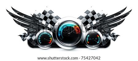 Dashboard emblem, 10eps - stock vector