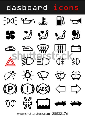 Dashboard icons - stock vector