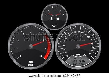 dashboard gauges and traffic light