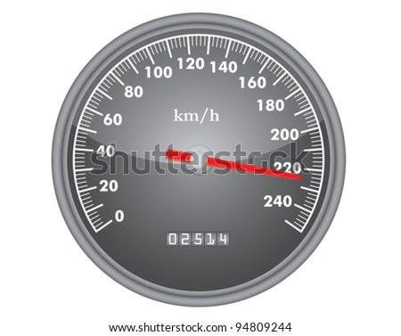 dashboard speedometer gauge isolated on white vector illustration