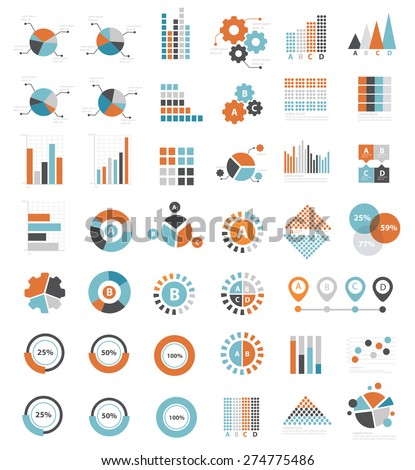 Data analysis icons on white background,clean vector - stock vector