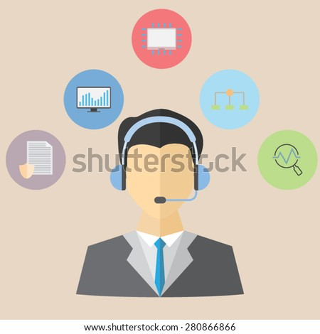 Data analysts - stock vector