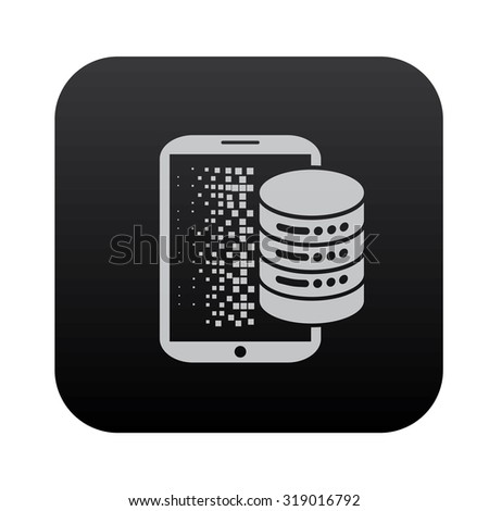 Data and sharing on black button blackboard,vector - stock vector