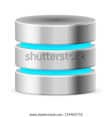 Data base icon. Illustration on white background - stock vector