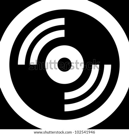 Data disc - Vector icon isolated - stock vector