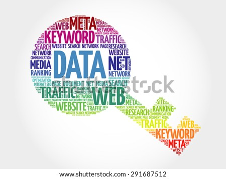 DATA Key word cloud, business concept - stock vector
