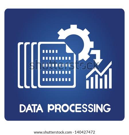 data processing - stock vector