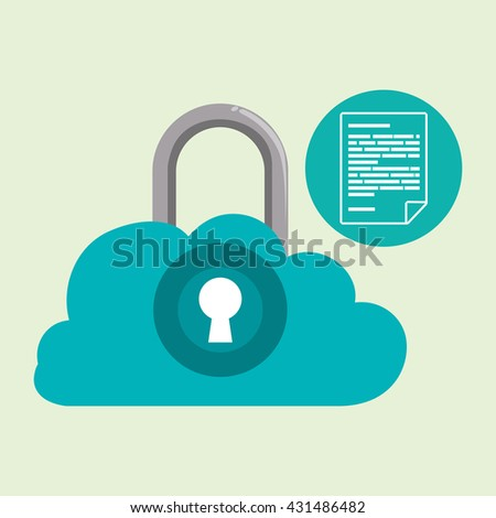 Data Security design. Protect icon. Data center illustration , vector