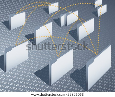 data transfer - stock vector