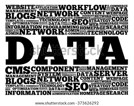 DATA word cloud, business concept - stock vector