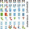 Database details icon set of 42 icon`s customized - stock photo