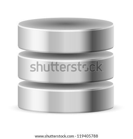 Database icon off. Illustration on white background for design
