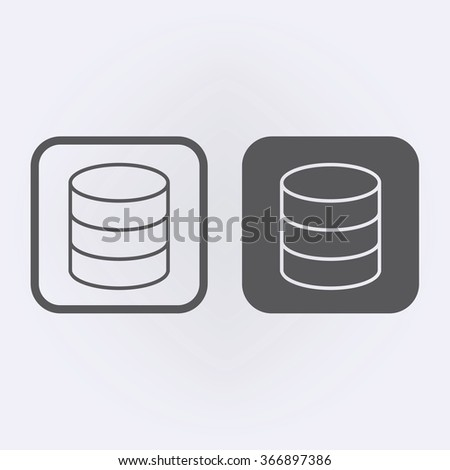 Database line icon set . Vector illustration