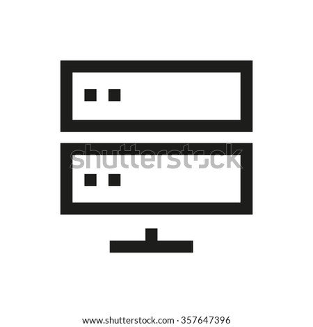 Database, network, cloud server  line icon. Pixel perfect fully editable vector icon suitable for websites, info graphics and print media. - stock vector