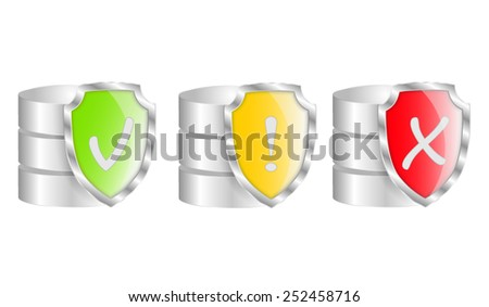 Database Protection Icon. Vector illustration - stock vector