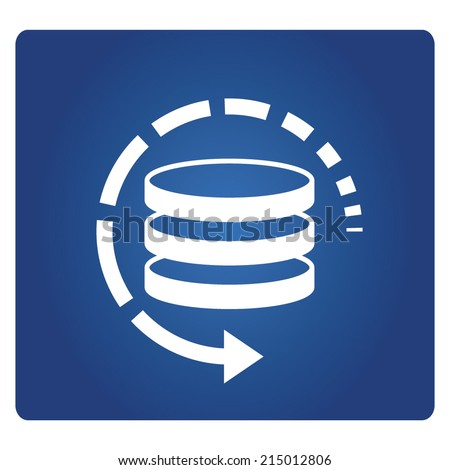 database restore, backup - stock vector