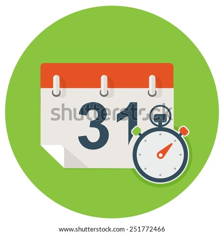 date event time icon - stock vector
