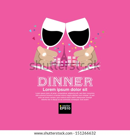 Dating Dinner Vector Illustration Concept .EPS10 - stock vector