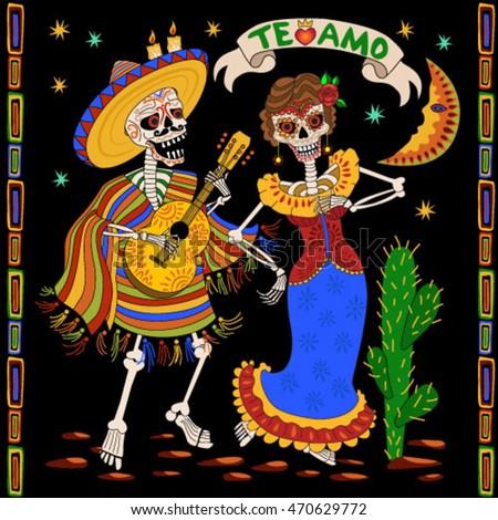 Day Of The Dead Skeleton Dance