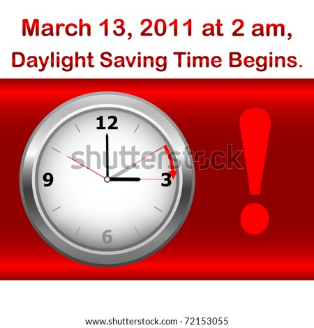 Daylight saving time begins march 13. Icon clock. vector. - stock vector
