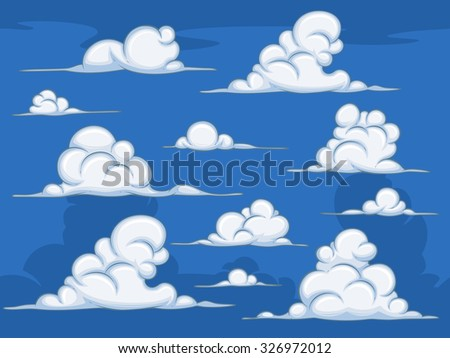 Daytime cartoon clouds