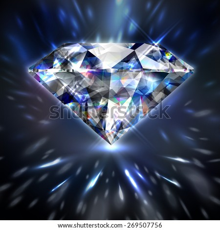 Dazzling shiny colorful diamond background - eps10 - stock vector