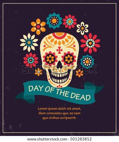 dea de los muertos day dead stock vector 501283852 shutterstock rh shutterstock com day of the dead skull vector day of the dead vector download