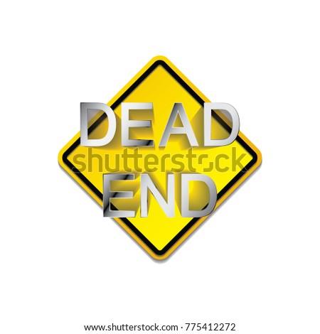 Dead End Symbol Icon On White Stock Vector 775412272 Shutterstock