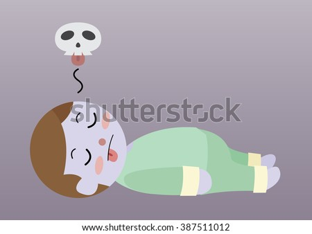 dead man laying on ground cartoon stock vector 387511012 shutterstock rh shutterstock com cartoon images of dead person Cartoon Dead Doctor