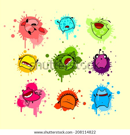 Dead monsters - stock vector