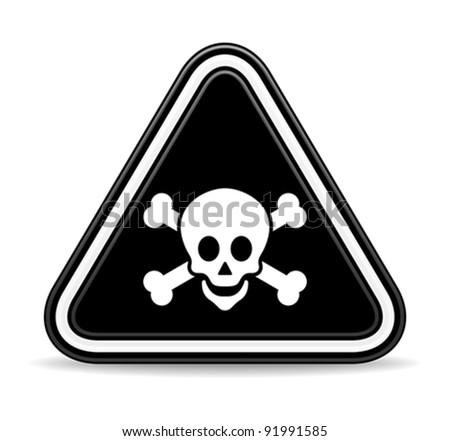 dead skull sign - stock vector