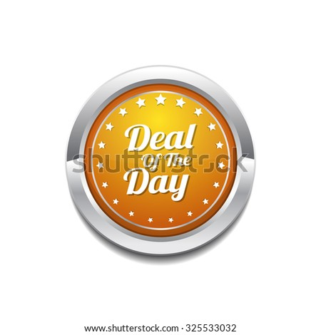 Deal Of The Day Yellow Vector Icon Button