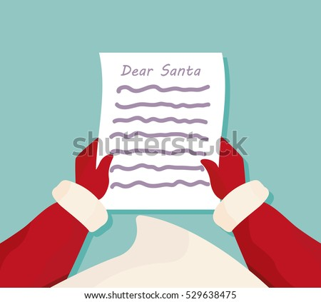 Dear santa letter christmas greeting card stock vector 529638475 dear santa letter christmas greeting card list from the childrens m4hsunfo