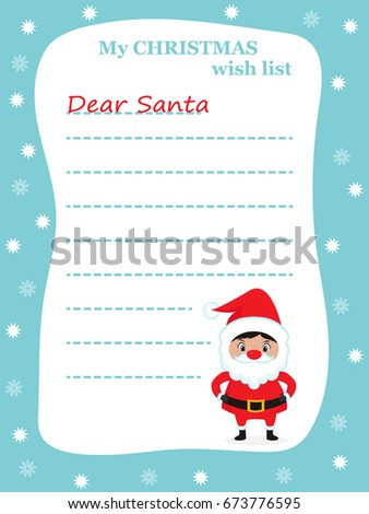 dear santa letter santa claus copyspace stock vector 673776595