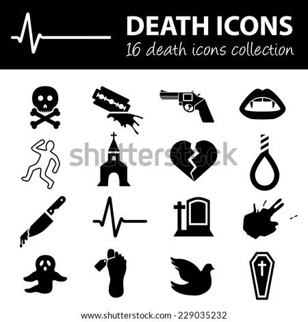 death icons - stock vector