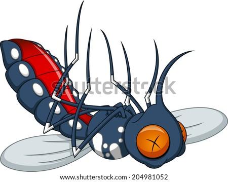 Death mosquito cartoon - stock vector