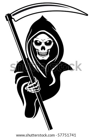 Death sign isolated on white. Jpeg version also available in gallery - stock vector