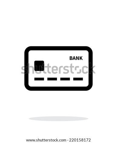 Debit card icon on white background. Vector illustration. - stock vector