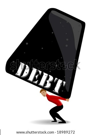 Debt burden - stock vector