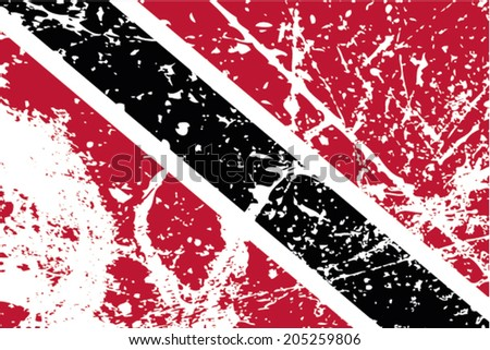 Decayed flag of Trinidad and Tobago