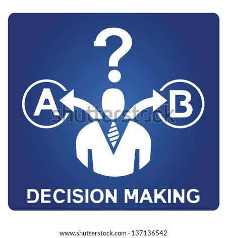 decision making - stock vector