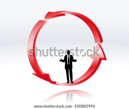 decision of a businessman - stock vector